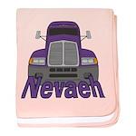Trucker Nevaeh baby blanket