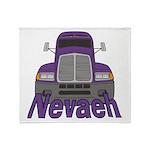 Trucker Nevaeh Throw Blanket