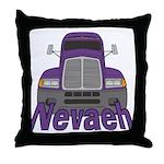 Trucker Nevaeh Throw Pillow