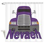 Trucker Nevaeh Shower Curtain