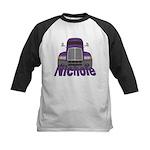 Trucker Nichole Kids Baseball Jersey