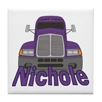 Trucker Nichole Tile Coaster