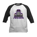 Trucker Nicole Kids Baseball Jersey