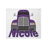 Trucker Nicole Throw Blanket