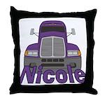 Trucker Nicole Throw Pillow