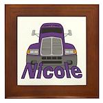 Trucker Nicole Framed Tile