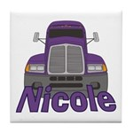 Trucker Nicole Tile Coaster