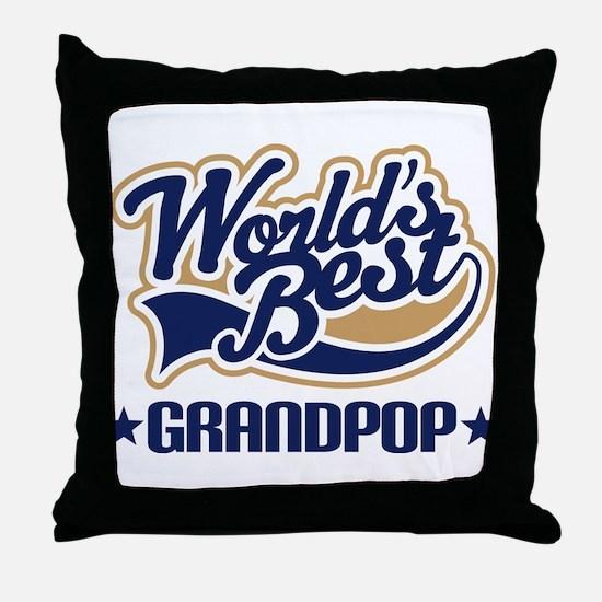 Worlds Best Grandpop Throw Pillow