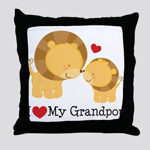 I Heart My Grandpop Throw Pillow