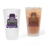 Trucker Olivia Drinking Glass