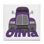 Trucker Olivia Tile Coaster