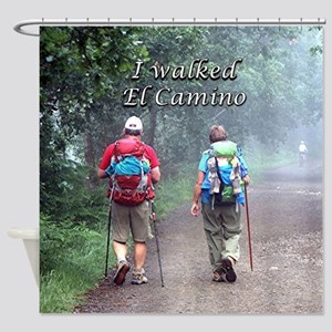 I walked El Camino, Spain, walkers Shower Curtain