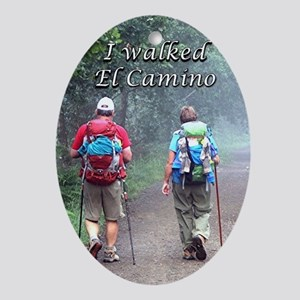 I walked El Camino, Spain, walkers 3 Oval Ornament
