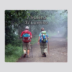 I walked El Camino, Spain, walkers 3 Throw Blanket
