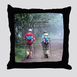 I walked El Camino, Spain, walkers 3 Throw Pillow