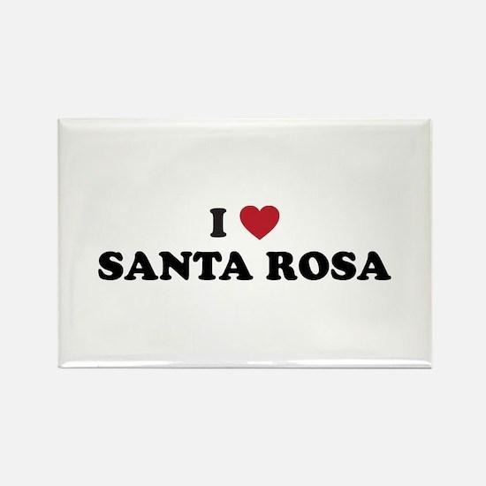 I Love Santa Rosa California Rectangle Magnet