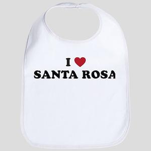 I Love Santa Rosa California Bib
