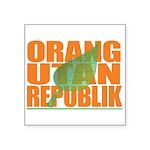 """Orang Utan Republik Square Sticker 3"""" x 3&quo"""