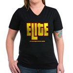 ELITE 1 Women's V-Neck Dark T-Shirt