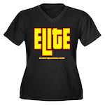 ELITE 1 Women's Plus Size V-Neck Dark T-Shirt