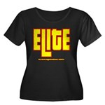 ELITE 1 Women's Plus Size Scoop Neck Dark T-Shirt