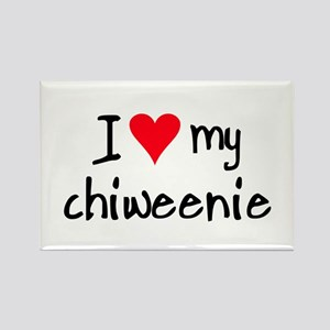 I LOVE MY Chiweenie Rectangle Magnet