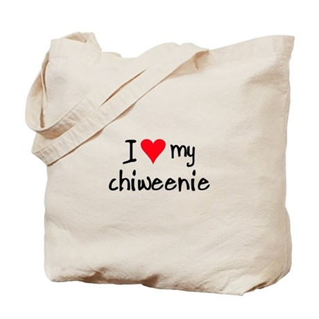 I LOVE MY Chiweenie Tote Bag