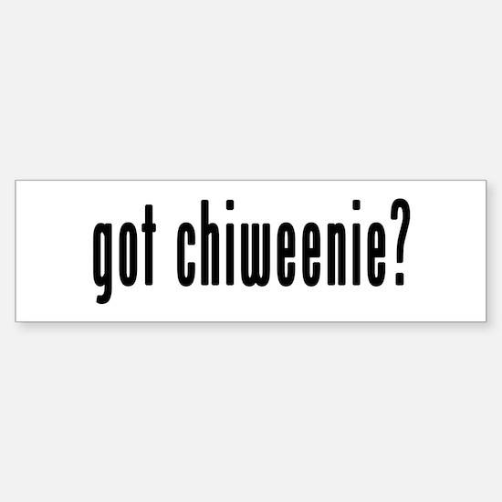 GOT CHIWEENIE Sticker (Bumper)