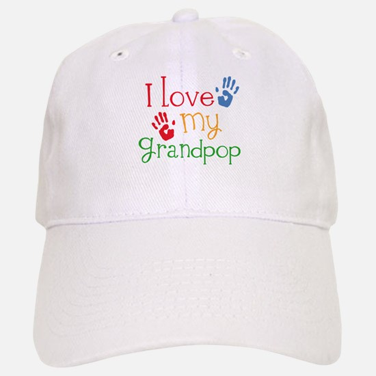 I Love Grandpop Baseball Baseball Cap