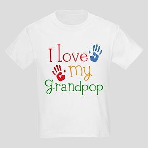 I Love Grandpop Kids Light T-Shirt