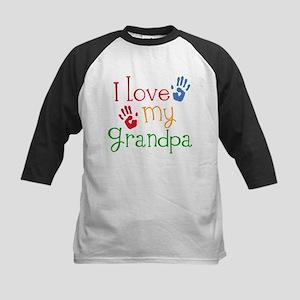 I Love Grandpa Kids Baseball Jersey