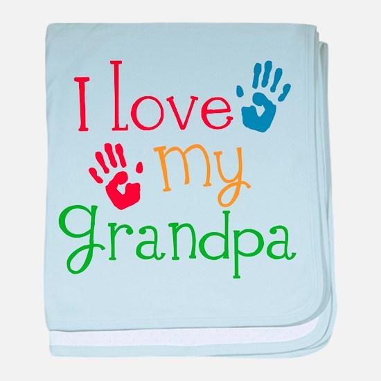 I Love Grandpa baby blanket