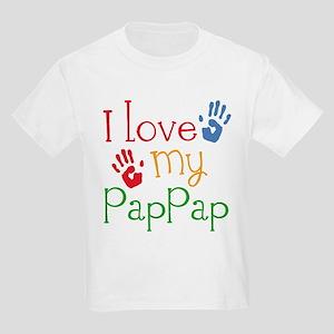 I Love PapPap Kids Light T-Shirt