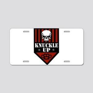 OFFICIAL Knuckle Up Shield Aluminum License Plate