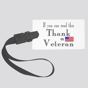 Thank a Veteran Large Luggage Tag