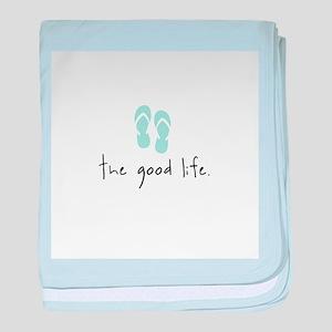 The Good Life baby blanket