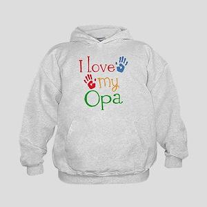 I Love Opa Kids Hoodie