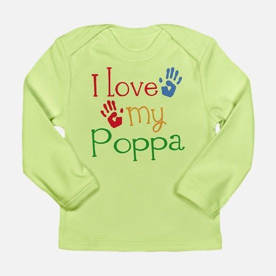 I Love Poppa Long Sleeve Infant T-Shirt
