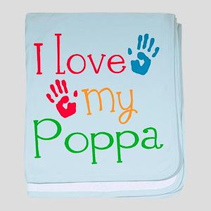 I Love Poppa baby blanket