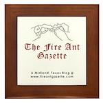 Fire Ant Gazette Framed Tile