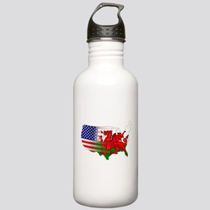 American Welsh Map Stainless Water Bottle 1.0L
