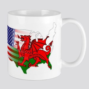American Welsh Map Mug