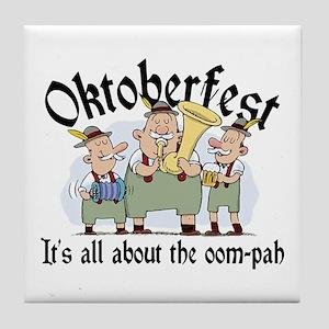 Funny Oktoberfest Tile Coaster