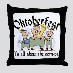 Funny Oktoberfest Throw Pillow