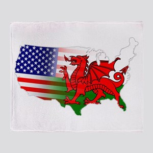 American Welsh Map Throw Blanket