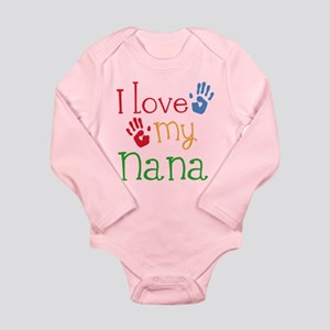 I Love Nana Long Sleeve Infant Bodysuit