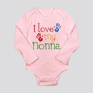 I Love Nonna Long Sleeve Infant Bodysuit