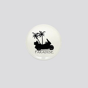 Wing in Paradise Mini Button