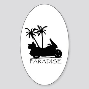 Wing in Paradise Oval Sticker