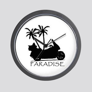 Wing in Paradise Wall Clock